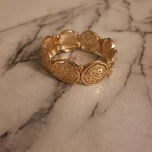 Stretchy Gold Bracelet